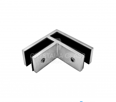 CG Brushed Stainless 90 Degree Glass Clamp