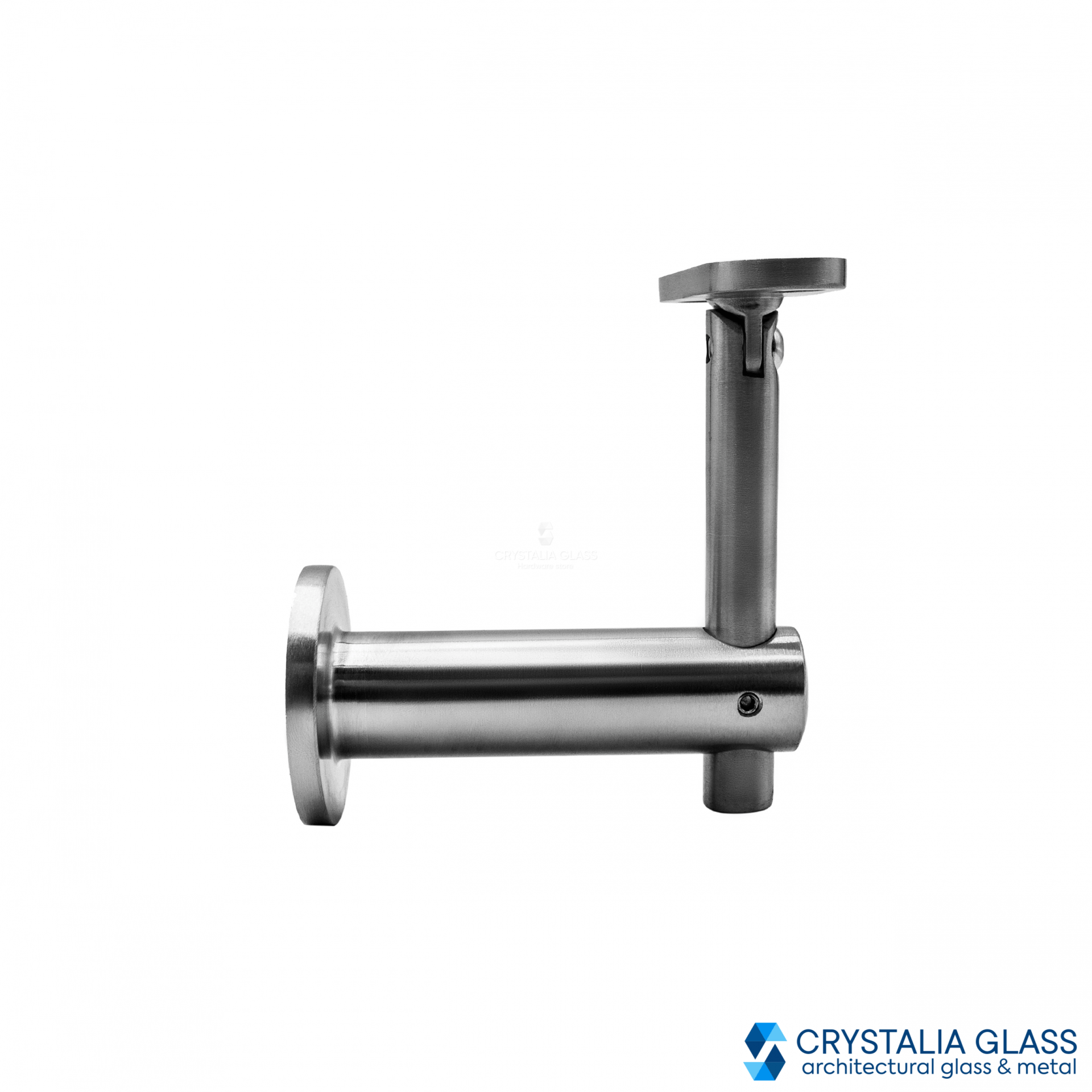 CG Brushed Stainless Wall Mounted Hand Rail Bracket with Flat Saddle