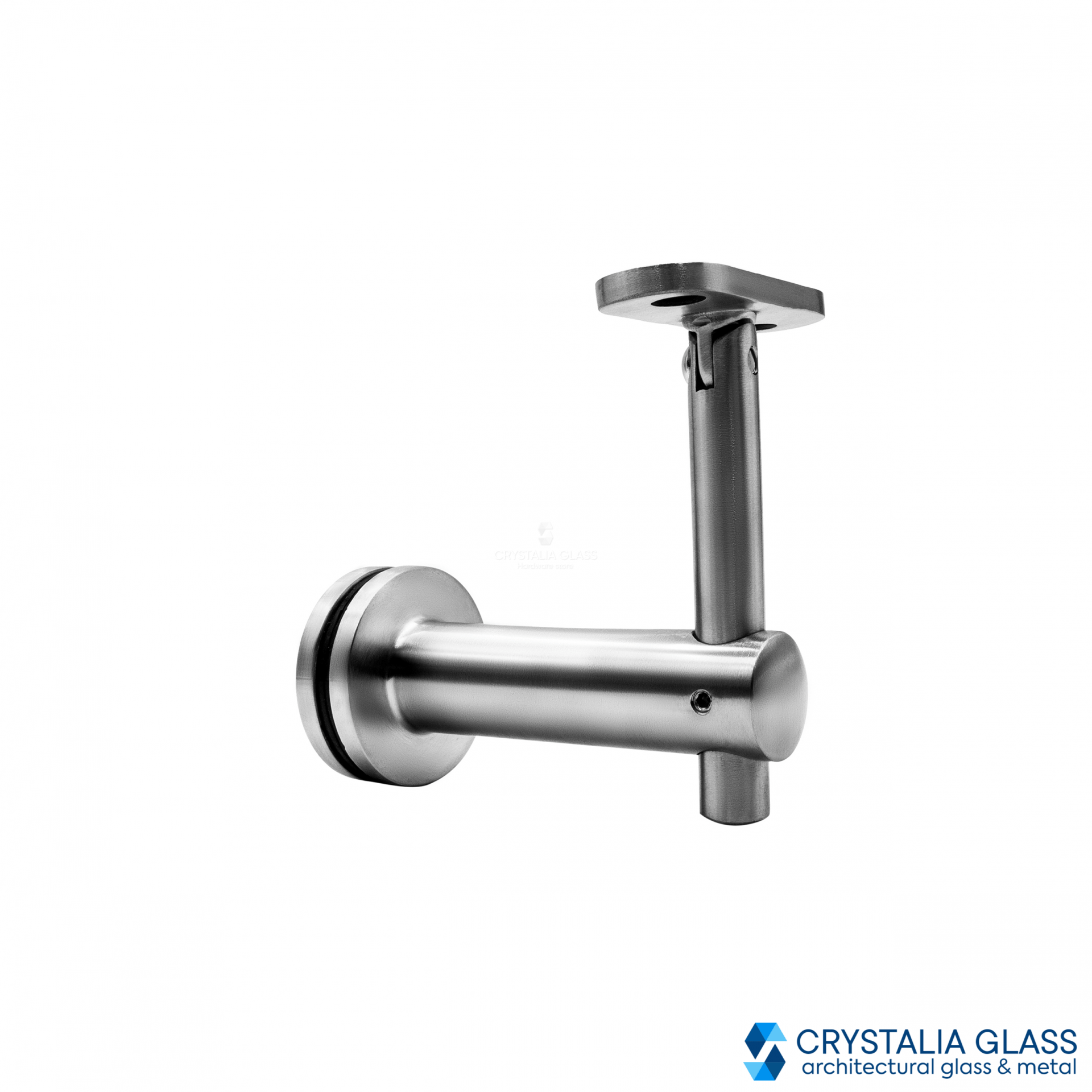 CG Brushed Stainless Glass Mounted Hand Rail Bracket Flat Surface