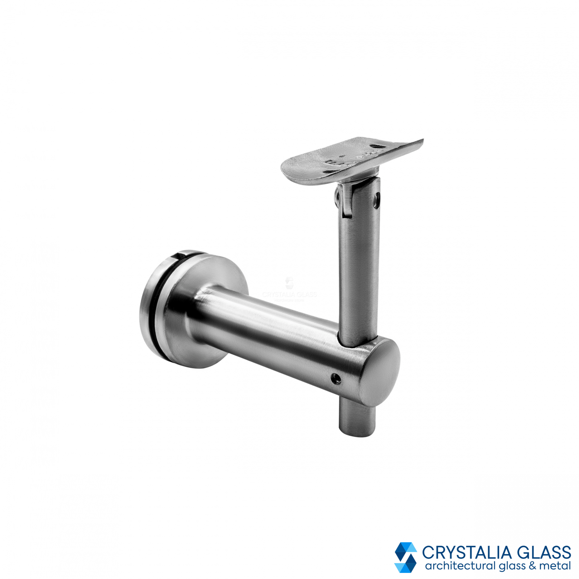 CG Brushed Stainless Glass Mounted Hand Rail Bracket