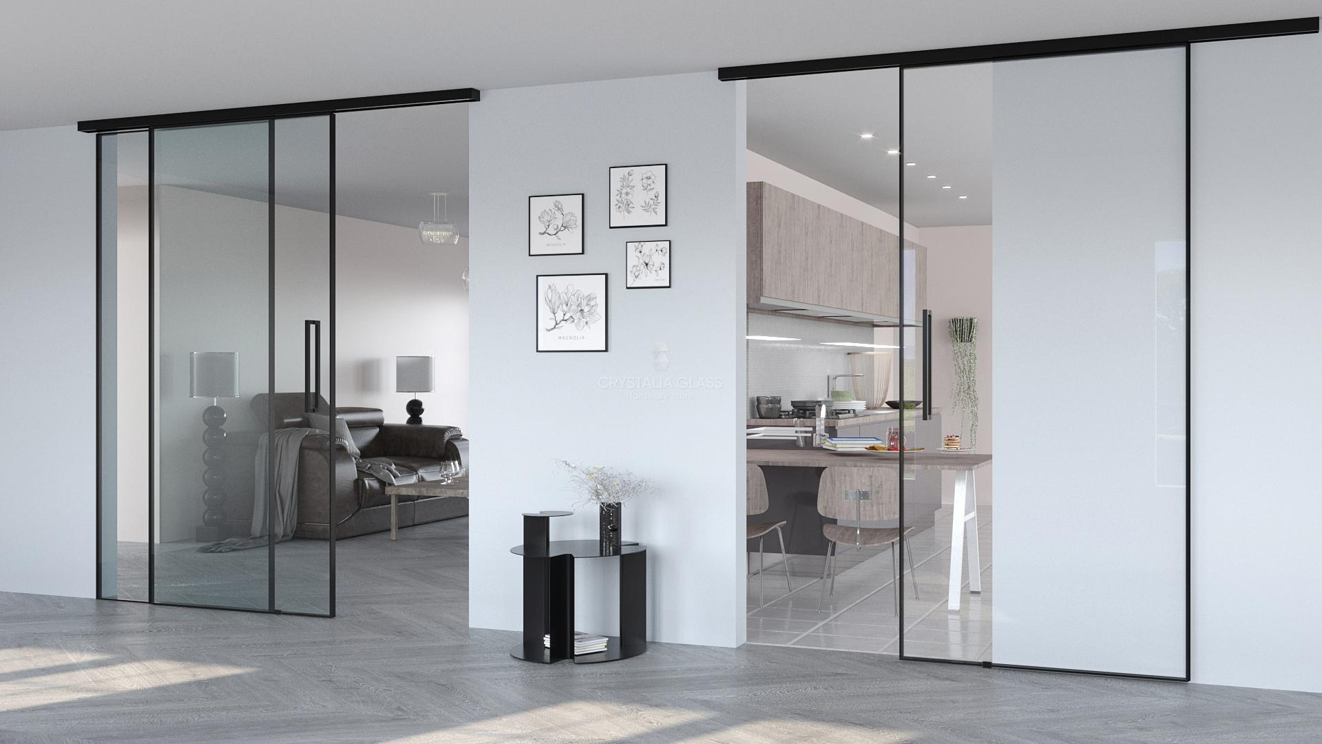 CGF 300 Series Matte Black Single Sliding Door Kit