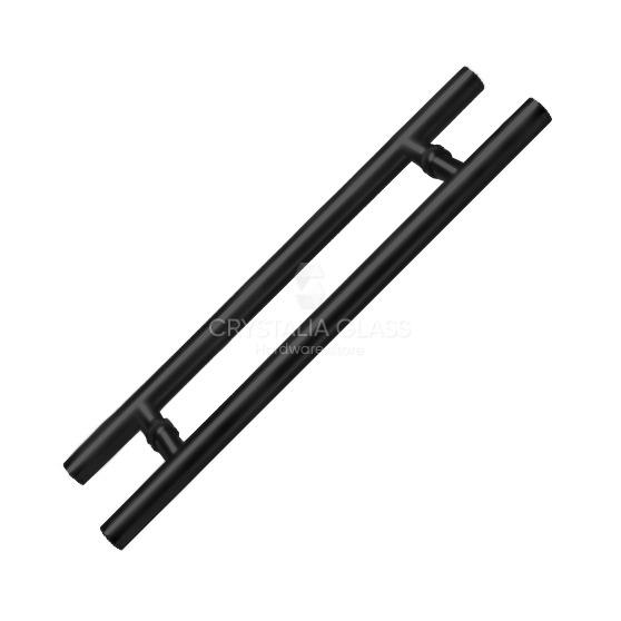 Black Matte 60″ Extra Length Ladder Style Back-to-Back Pull Handle