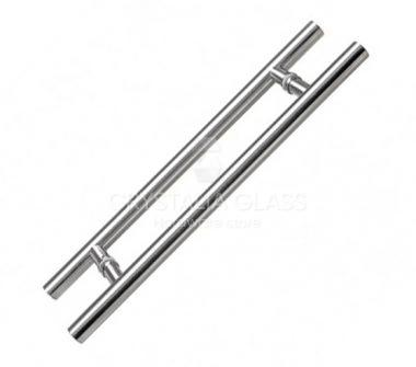 Brushed Stainless 24″ Extra Length Ladder Style Back-to-Back Pull Handle