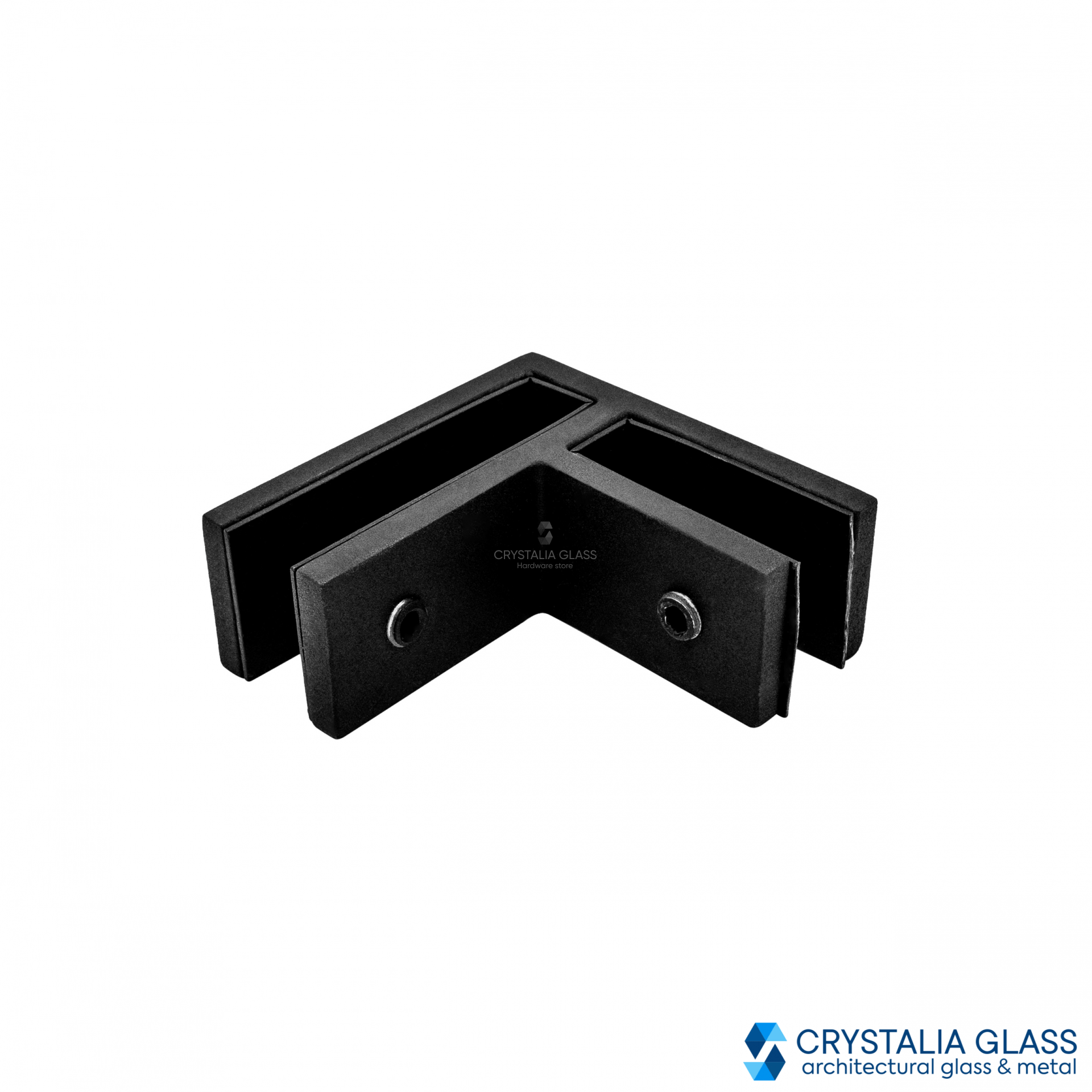 CG Black Matte 90 Degree Glass Clamp