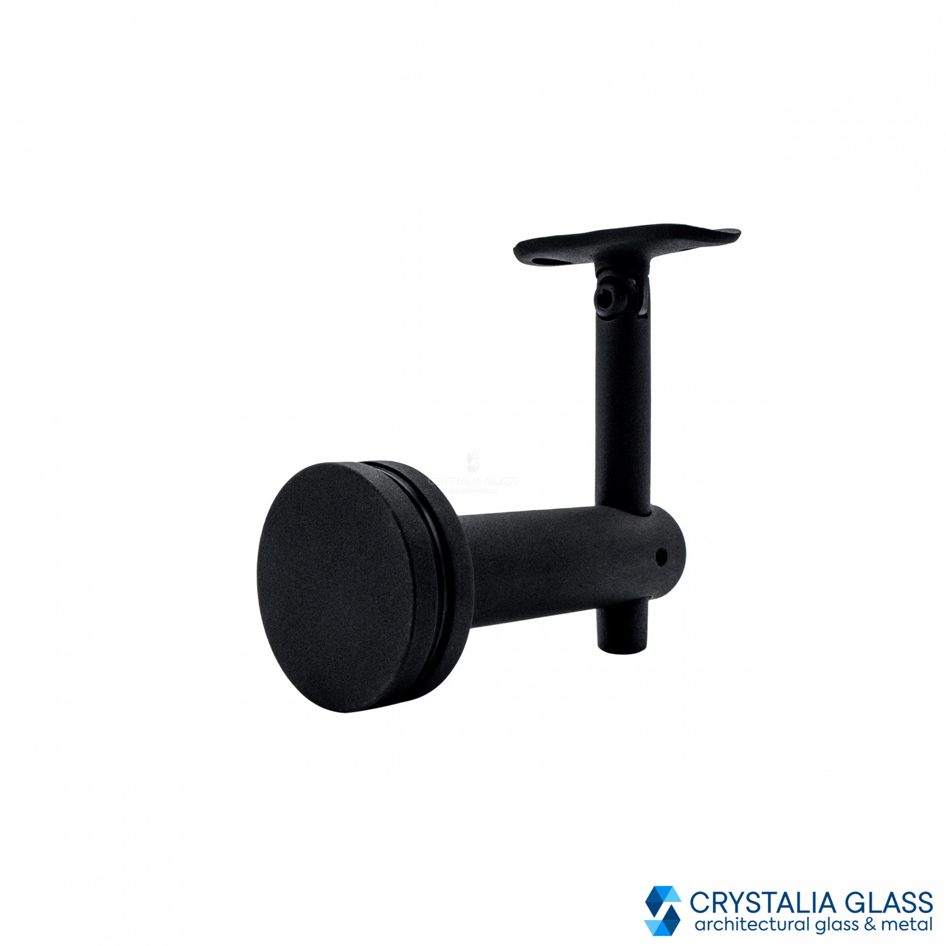 CG Black Matte Mounted Hand Rail Bracket