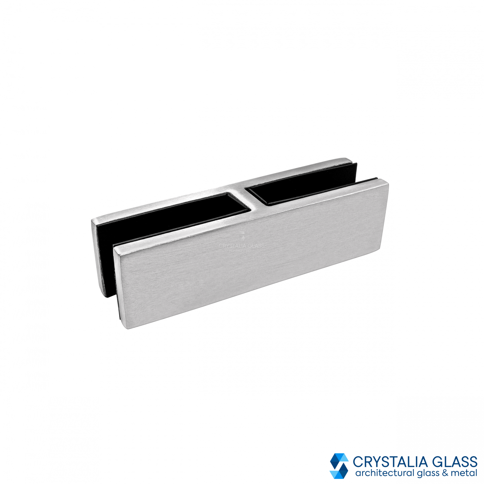 CG Brushed Stainless 180 Degree Glass Clamp