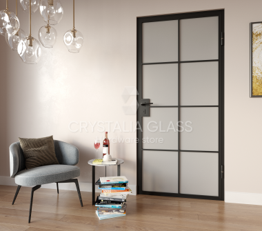 Interior Steel Door – Geneva Matte Black